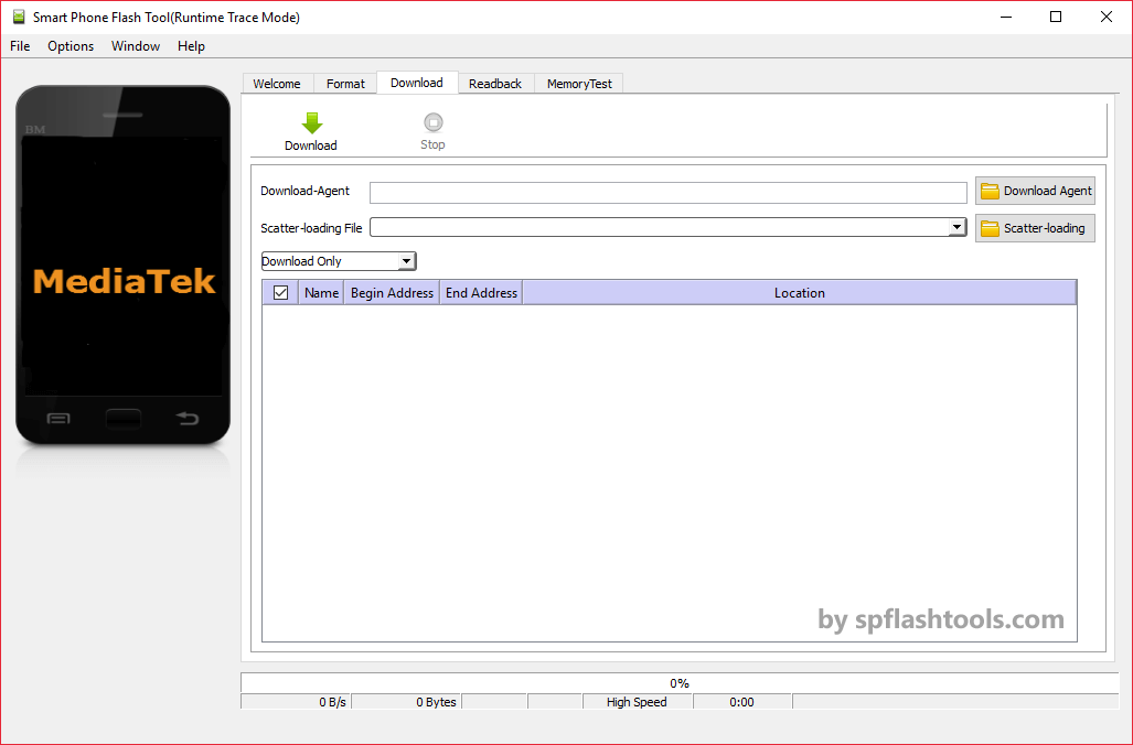 SP Flash Tool v5.1343